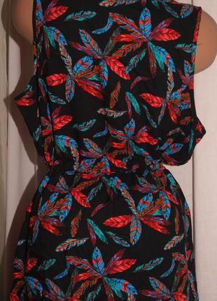 Красочное платье (л) по талии утяжка, с узором, шикарно смотрится4 фото