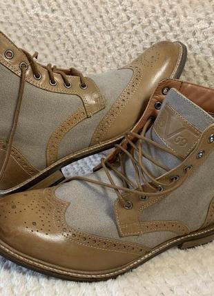 Туфли-полуботинки genuine кожа новые италия