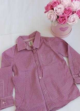 Рубашка в клетку на девочку h&m 4 года 104 см