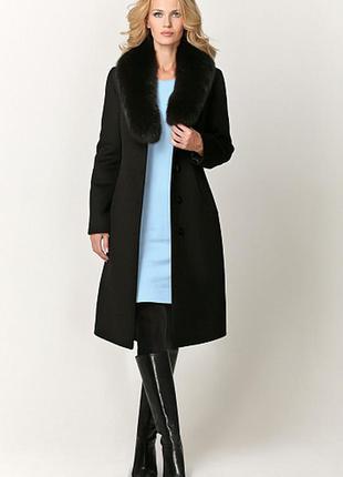 Крутое стильное трендовое пальто с красивым воротником! размер 14