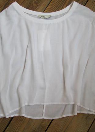 Белый стильный кроп топ colin's свободного кроя, размер m