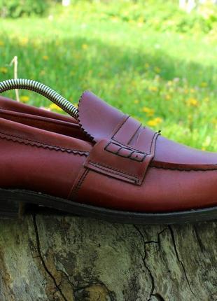 Мужские кожаные туфли лоферы saxone britain, размер 42 - 43