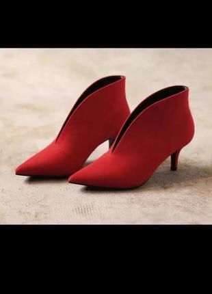 Туфли ботинки на удобной шпильке