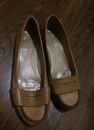 Clarks туфли балетки бежевые кожаные