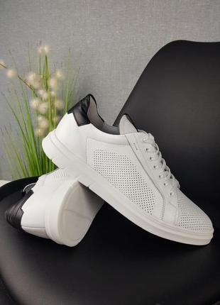Чоловічі кросівки туфлі натуральна шкіра