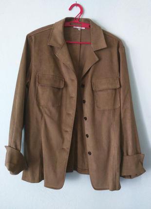 Пиджак замшевый рубашка