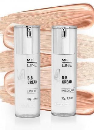 Me line bb-крем тональный, увлажняющий крем с spf 30 (тон light и medium)