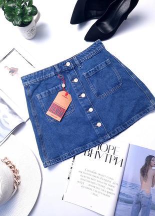 Новая джинсовая мини юбка