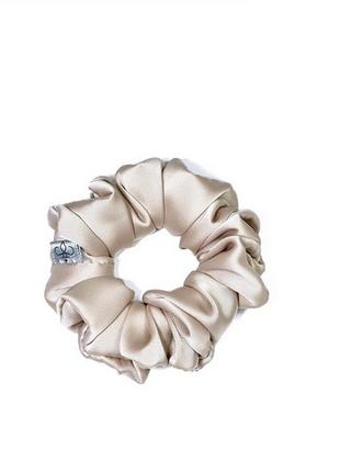 Скранч резинка для волос из шёлка армани