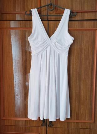Белое летнее платье сарафан zara