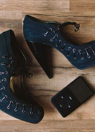 Стильные синие туфли topshop