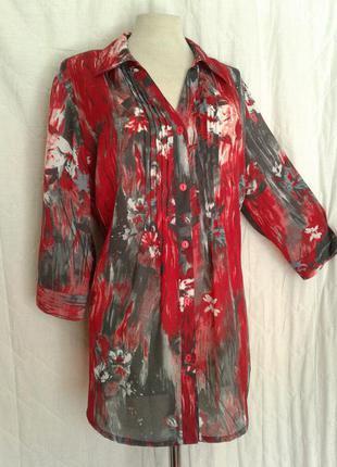 Шелковая струящаяся блузочка, xl