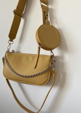Сумка сумочка двойная тренд 2021 сумка с цепочкой