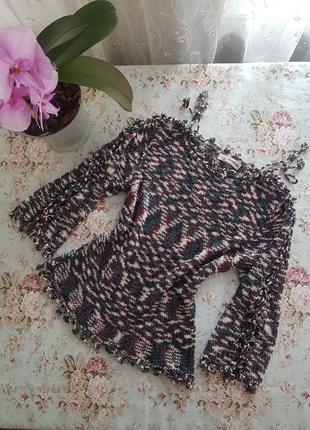 Кофта вязаная свитерок вязаный