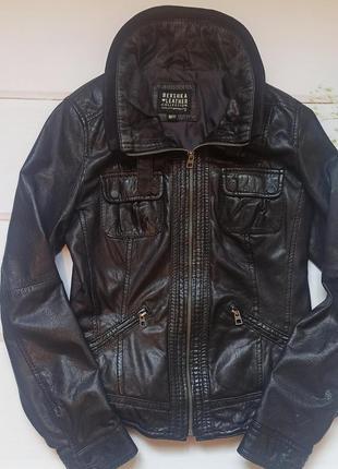 Курточка bershka натуральная кожа