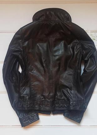 Курточка bershka натуральная кожа3 фото
