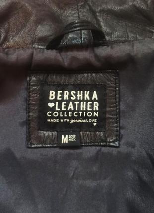 Курточка bershka натуральная кожа5 фото