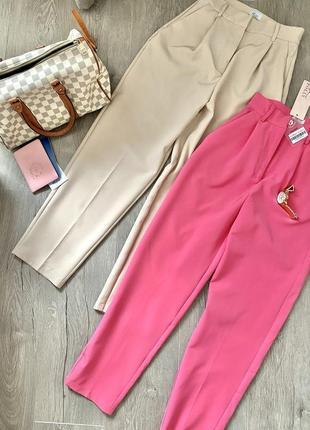 Стильні брюки oh polly у бежевому відтінку, нові