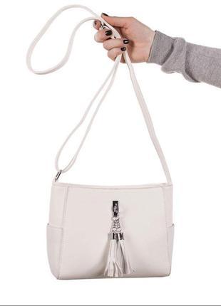 Красивая женская сумочка / новинка / белая