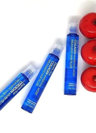Филлер для волос с коллагеном farmstay collagen water full moist treatment hair filler