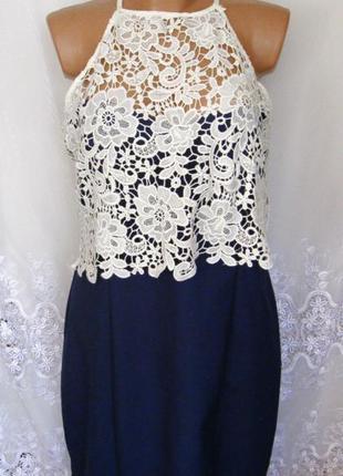 Платье с кружевами батал paper dolls 54 - 56 хлопок нейлон c76n