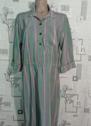 Шикарное винтажное шелковое платье ted lapidus
