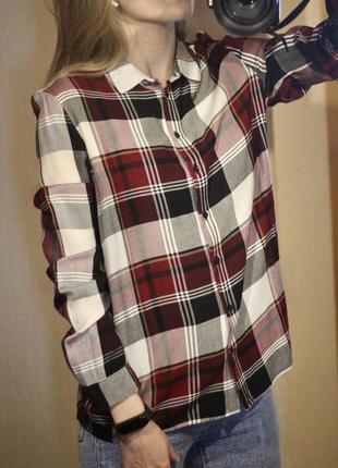 Рубашка женская блуза в клетку