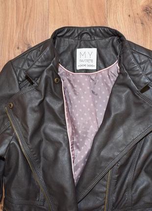 Кожаная куртка, размер 46 наш