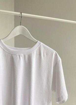 Распродажа 🔥однотонная 100% хлопок качественная футболка унисекс оверсайз белая базовая