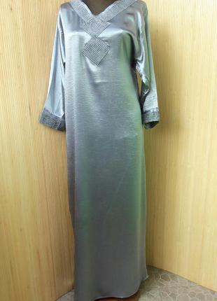 Серебристое восточное платье m/l