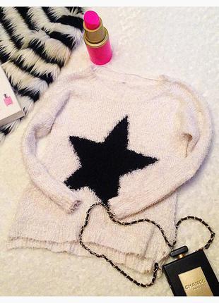 Мягкий свитерок травка со звездой
