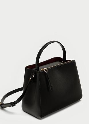 Новая сумка-шопер среднего размера с молнией zara