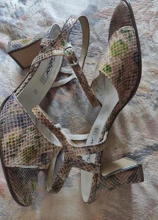 Босоножки кожаные женские gabor fashion 38-39размер