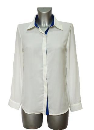 Белая женская офисная блузка рубашечного покроя asos. код п36817