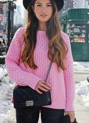 Розовый свитер zara