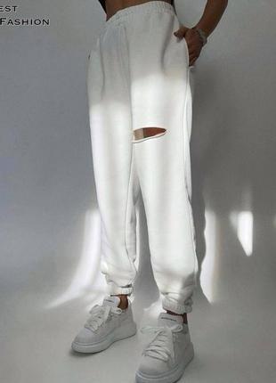 Джоггеры штаны брюки высокая посадка