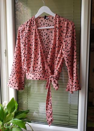 Блуза принт лео h&m