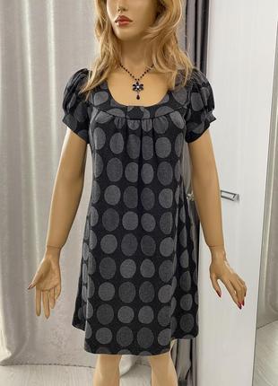 Платье сарафан в крупный горошек enfocus studio
