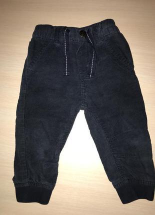 Вельветовые штаны брюки на мальчика 9-12 мес
