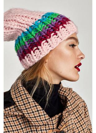 Трикотажная шапка-бини zara