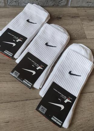 6 пар 🏒 носки найк высокие nike носки белого цвета