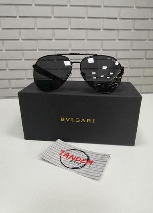 Стильные солнцезащитные очки авиаторы чёрные капля