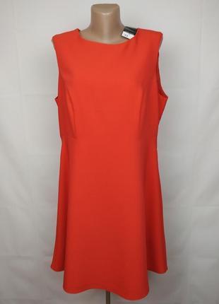 Платье новое красное стильное большого размера f&f uk 18/46/xxl