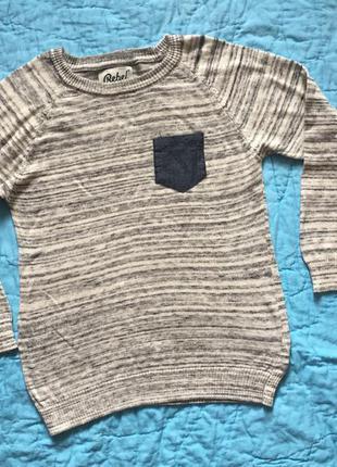 Rebel primark фирменный свитер р.128 или 7-8 л