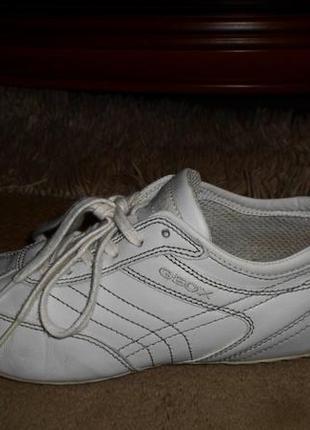 Качество geox respira.бомбезные мягкие белые фирм.туфли,кожа,италия