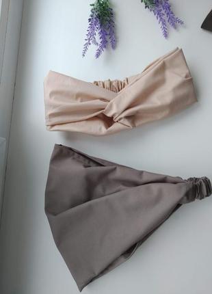 Комплект повязка +бандана платок хлопок на резинке