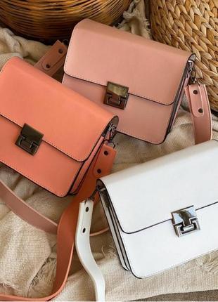 Прямоугольная сумочка,клатч с широким ремнем