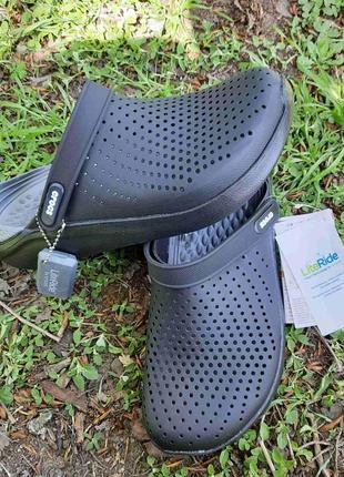 Шлёпанци  crocs literide clog 204592 black