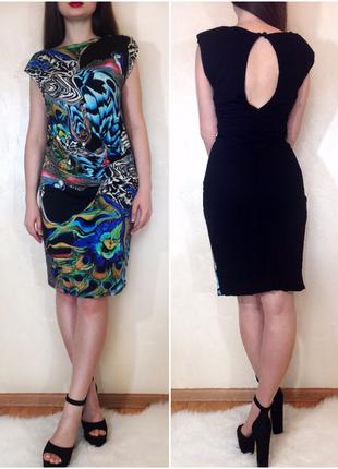 Платье по фигуре (для беременных) с подплечниками  и сборками от  river island размер м-l