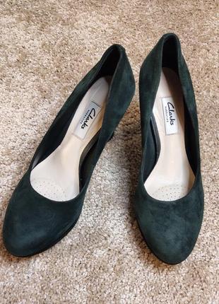 Туфли clarks натуральная замша